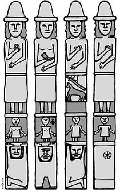 Описание збручский идол. Збручский идол