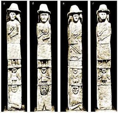 Збручский идол рыбаков.