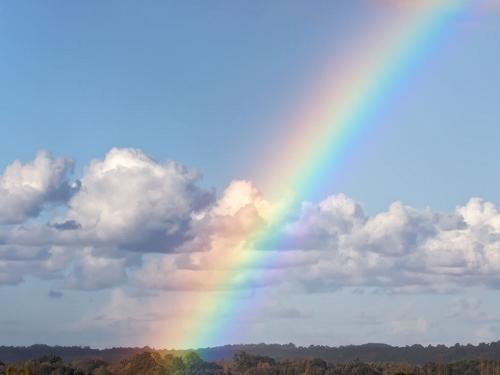 Радуга без дождя. Почему появляется радуга