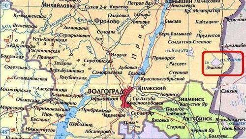 Озеро Эльтон на карте. Почему озеро названо Эльтоном?