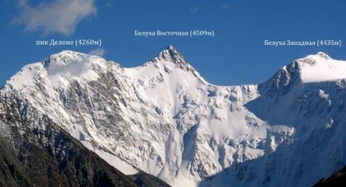 Белуха гора на карте России. Топография горы Белуха