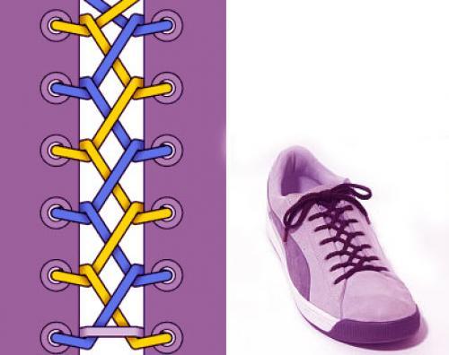Как завязать красиво шнурки на кроссовках. Молния (Зип-молния)