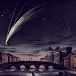 Комета донати в рисунках (1858 год).