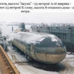 """Гигантская подводная лодка проекта 941 - """"Акула""""."""