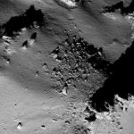 """На снимках орбитального космического аппарата """"Розе тта"""" - комета 67P/чурюмова - Герасименко."""