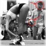 Это весёлое фото закончилось не так уж весело для девушки на переднем плане.