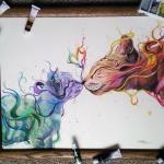 17-Летняя художница - самоучка создаёт потрясающие рисунки с помощью акварели и карандашей (Re.