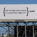 В 2004 году Google анонимно разместил на билбордах гарвардской площади и кремниевой долины математические задачи.