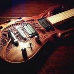 Самодельные резные гитары.