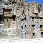 Накше - Рустам - каменные гробницы и наскальные рисунки (Иран.