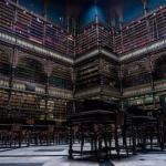 Роскошная готическая библиотека в Бразилии.