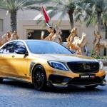 """""""Золотой"""" Седан Mercedes - Benz S65 в версии Brabus развивает 900 л. с."""