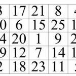 Таблица шульте. Данная таблица используется для того, чтобы расширить свое поле зрения.