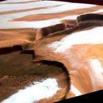 Nasa зафиксировала снегопад на Марсе.