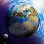 Американские ученые обнаружили белые линии, огибающие землю.